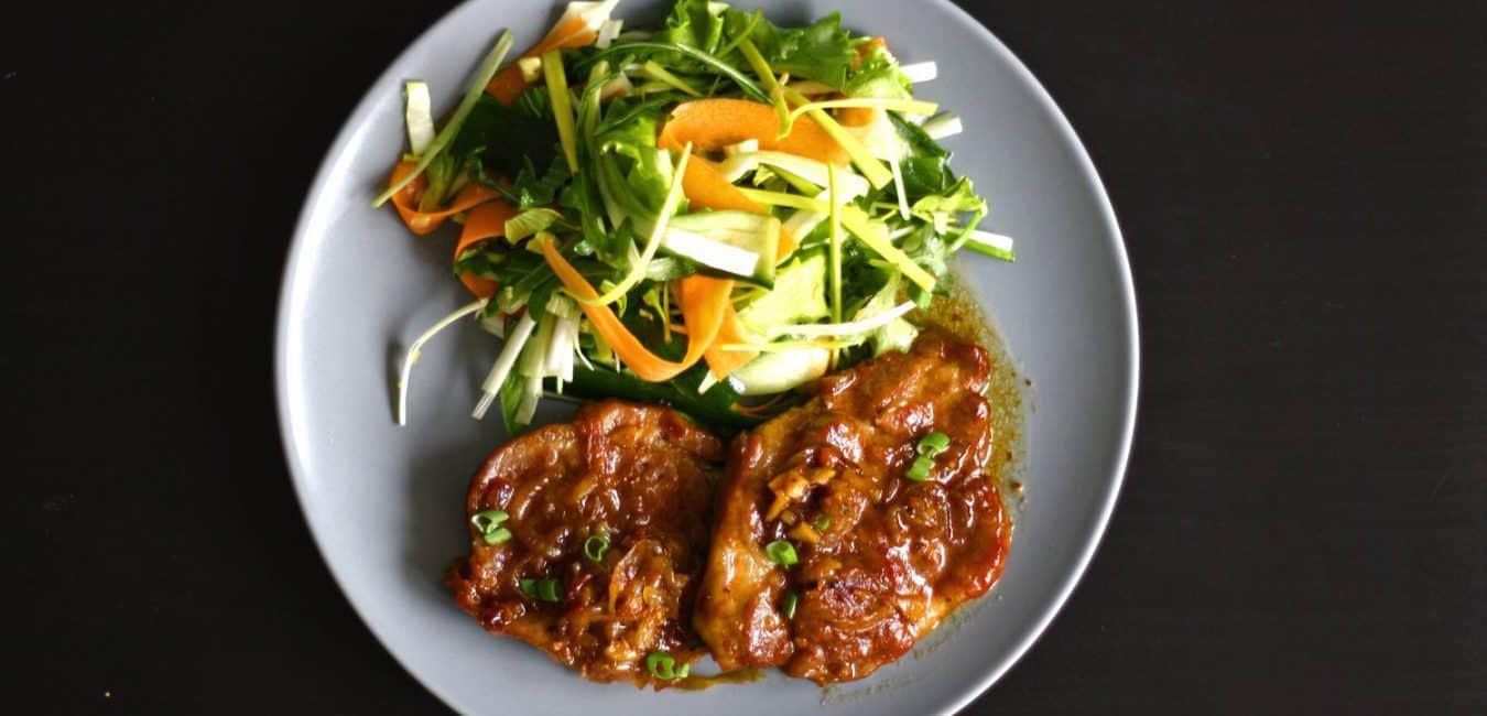 Vepřová krkovice s chilli a meruňkovým džemem