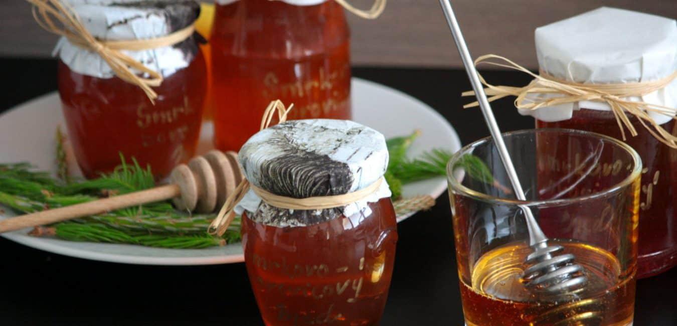 Domácí smrkovo-borovicový med z mladých výhonků