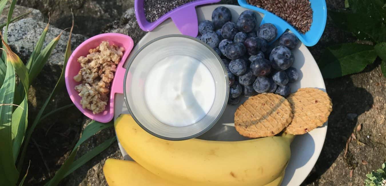 Borůvková smoothie bowl s jogurtem