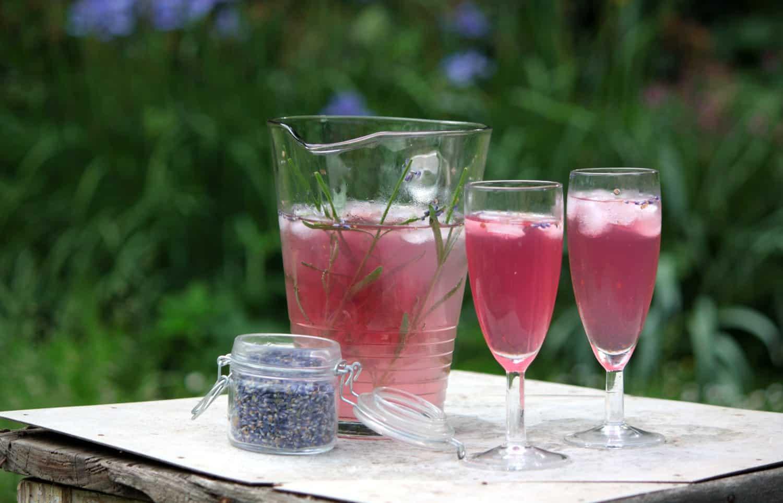 Levandulová limonáda (s medem a šampaňským)