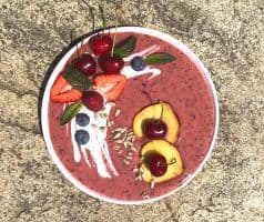 Ovocná smoothie bowl s jogurtem - postup - krok 4