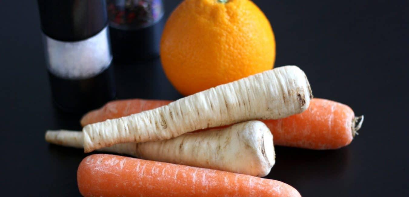 Pyré z pečené mrkve a petržele s pomerančem - postup - krok 1