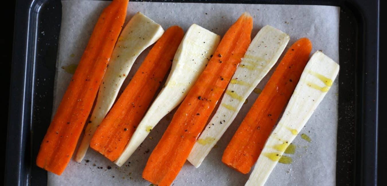 Pyré z pečené mrkve a petržele s pomerančem - postup - krok 2