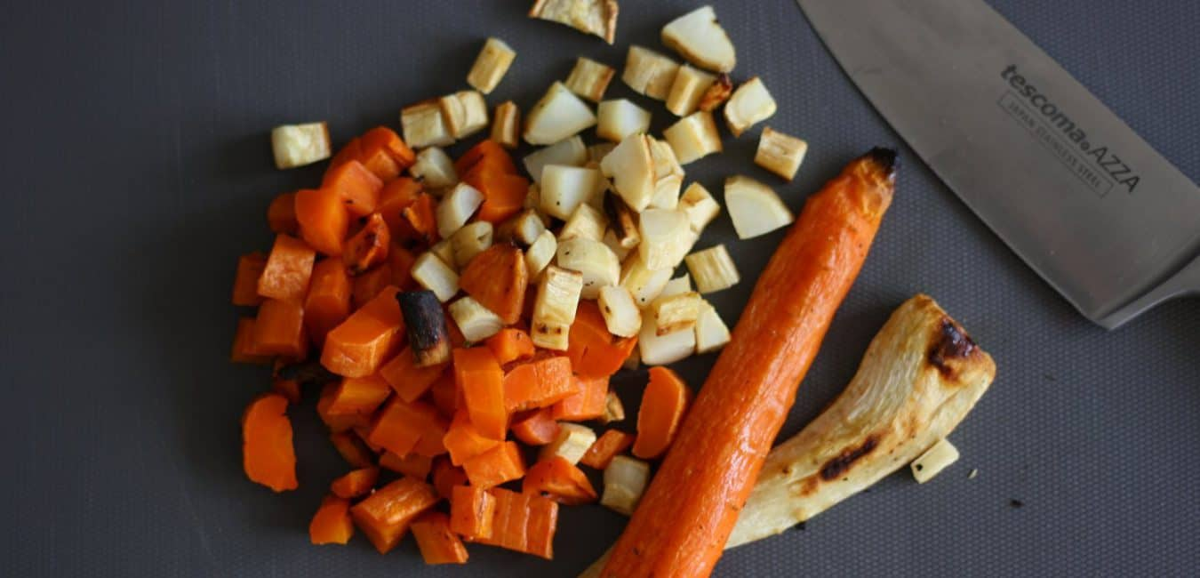 Pyré z pečené mrkve a petržele s pomerančem - postup - krok 4