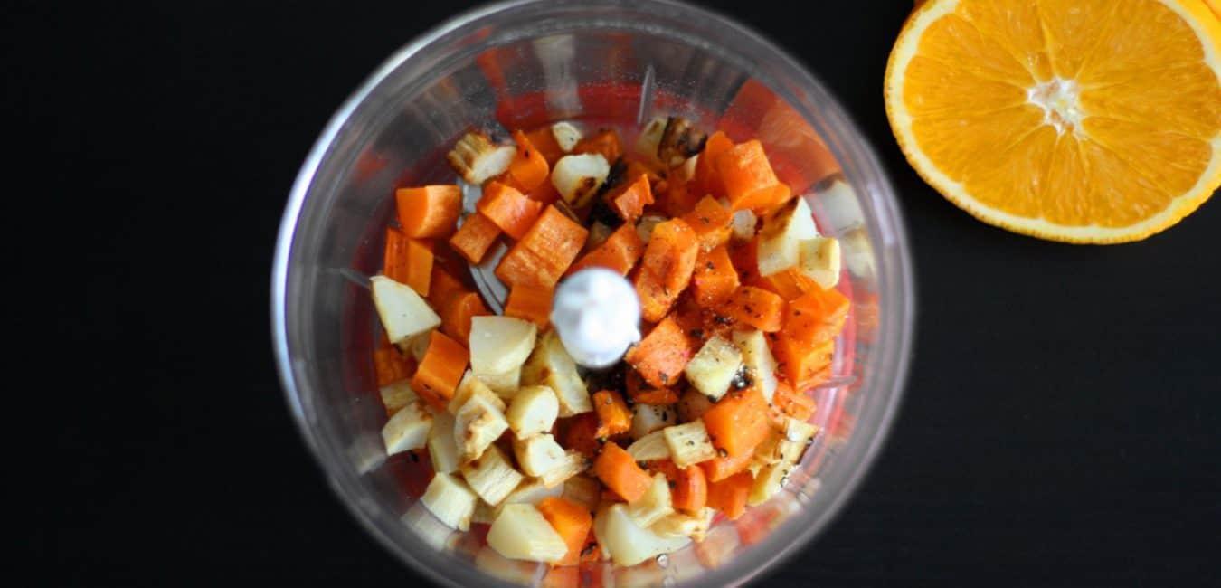 Pyré z pečené mrkve a petržele s pomerančem - postup - krok 5