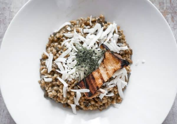 Krupoto - kroupové rizoto s houbami