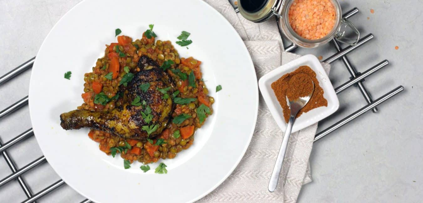 Pečené kořeněné berberské kuře