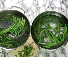 Jak blanšírovat zelené fazolky