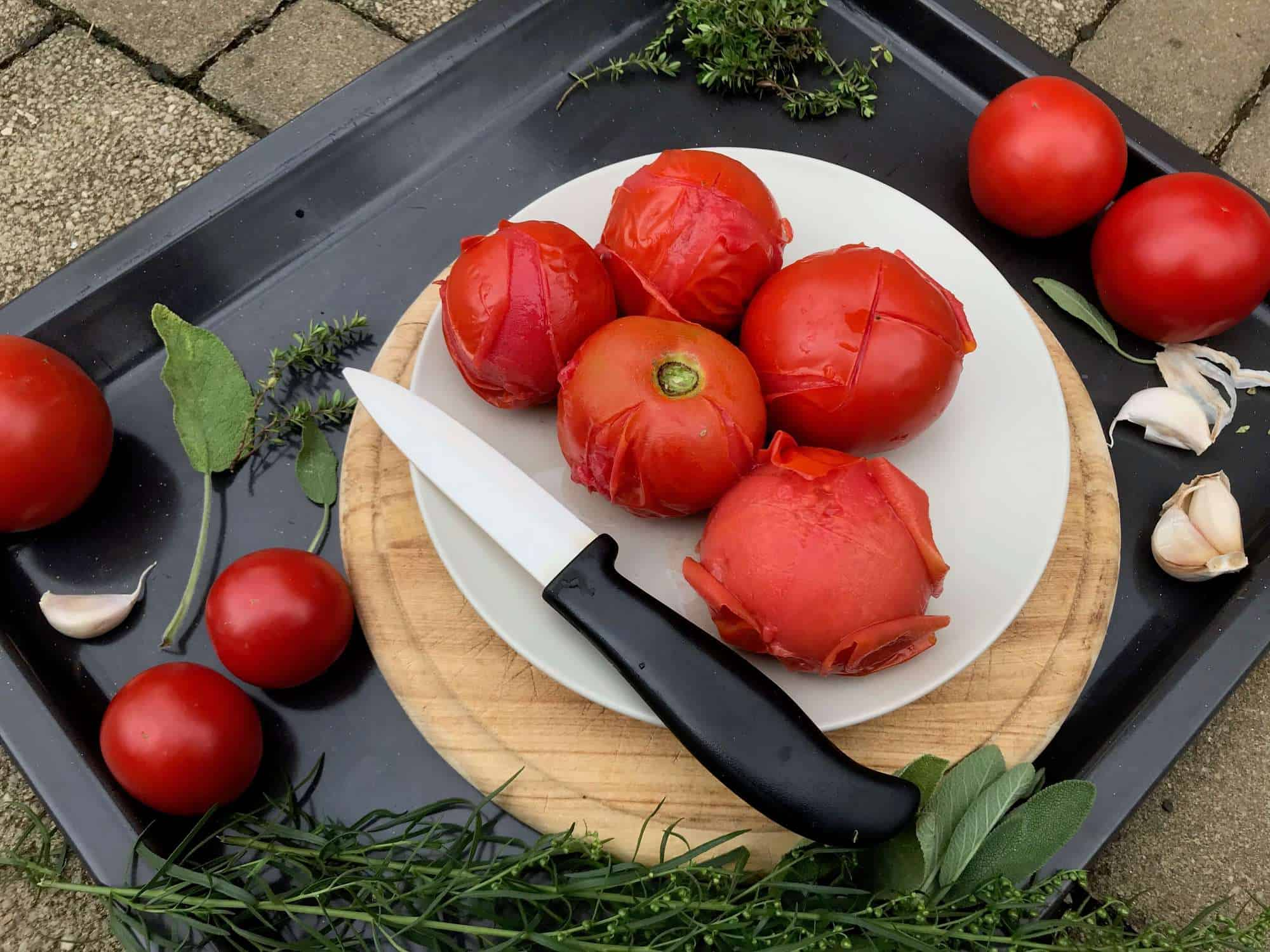 Jak oloupat rajčata