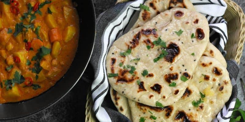 Indický kynutý chléb naan
